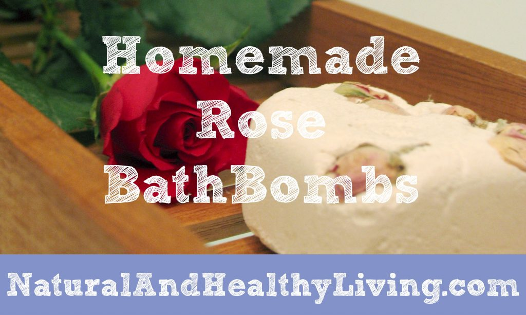homemade rose bathbombs