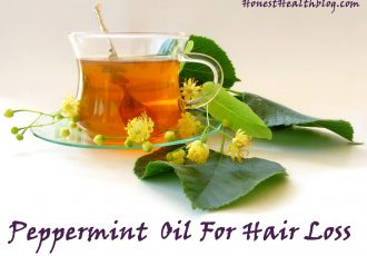 Peppermint essential oil for hair loss