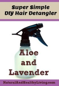 A quick and simple homemade hair detangler recipe.