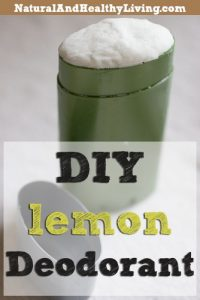 Homemade deodorant with Lemon