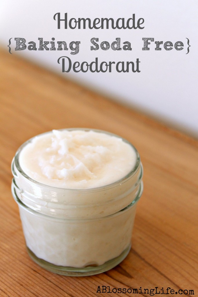 Homemade Baking Soda Free Deodorant
