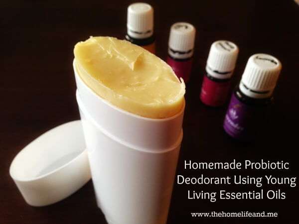 Homemade Probiotic Deodorant with Essential Oils